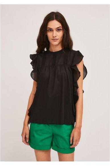 Compagnia fantastica Top   Ss21she55 Donna Nero Fashion