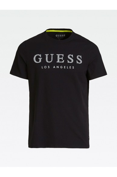 Guess T-shirt   Cn ss named tee Uomo Nero Fashion