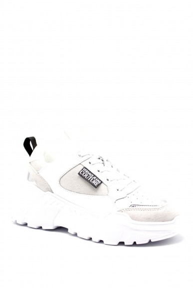 Versace couture Sneakers F.gomma Suede+leather+coated Donna Bianco Fashion