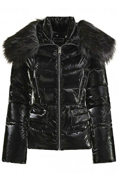 Guess Giubbotti   Sigourney jacket Donna Nero Fashion