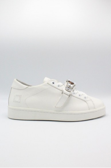 D.a.t.e.. Sneakers F.gomma 36-41 Donna Bianco Casual