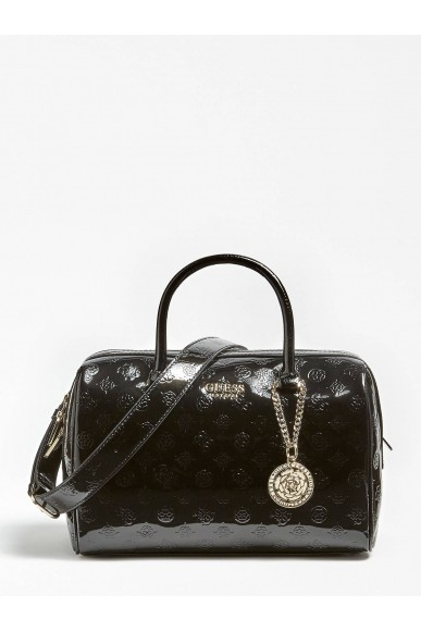 Guess Borse   Peony shine box satchel Donna Nero Fashion