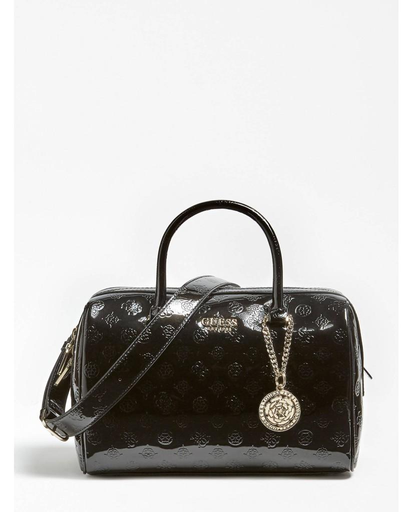 Guess Borse   Peony shine box satchel Donna Nero Fashion
