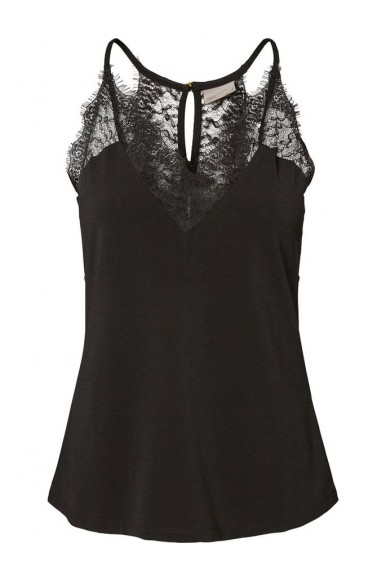 Vero moda Top   Vmmilla s/l lace top noos Donna Nero Fashion