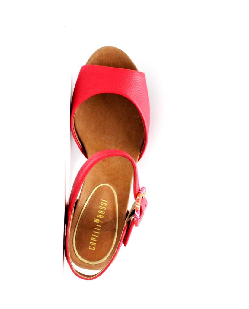 Capelli rossi Sandali 7656 Donna Rosso Fashion