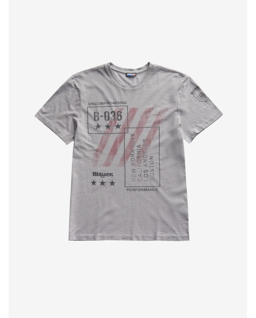 Blauer T-shirt   T-shirt manica corta Uomo Grigio Fashion