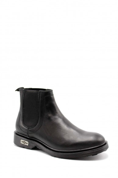 Cult Beatles   Ozzy 1334 mid m leather black Uomo Nero Fashion