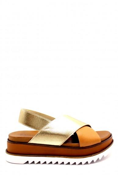 Inuovo Sandali F.gomma 8927 made in italy Donna Oro Fashion