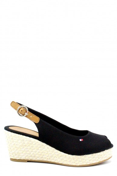 Tommy hilfiger Sandali F.gomma 36/41 iconic elba basic sling back ss18 Donna Nero Fashion