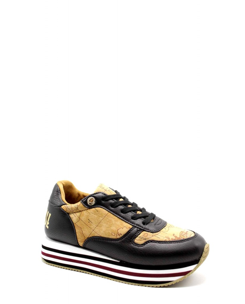1^classe  Sneakers F.gomma Sneakers n0383 Donna Nero Fashion