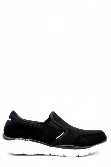 Skechers Slip-on F.gomma 39/46 Uomo Nero-bianco Sportivo