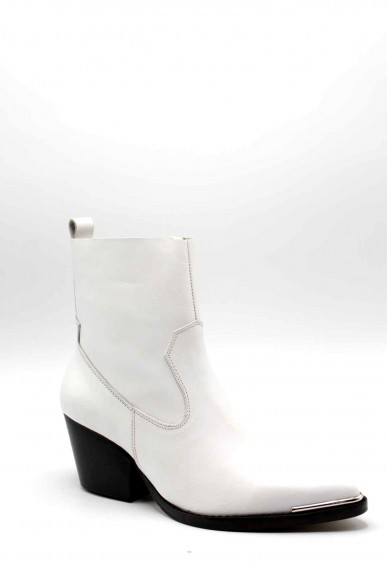 Jeffrey campbell Tronchetti   Kelam-mt leather white Donna Bianco Fashion