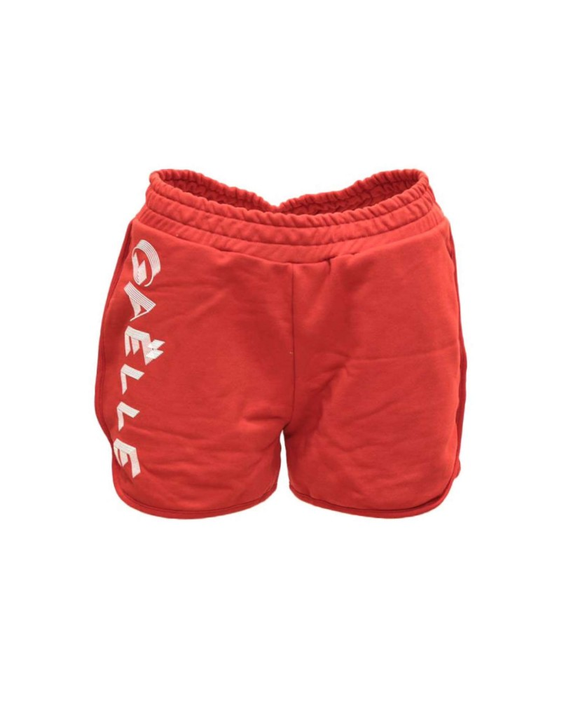 Gaelle paris Shorts   Shorts felpa co+stampa Donna Rosso Fashion