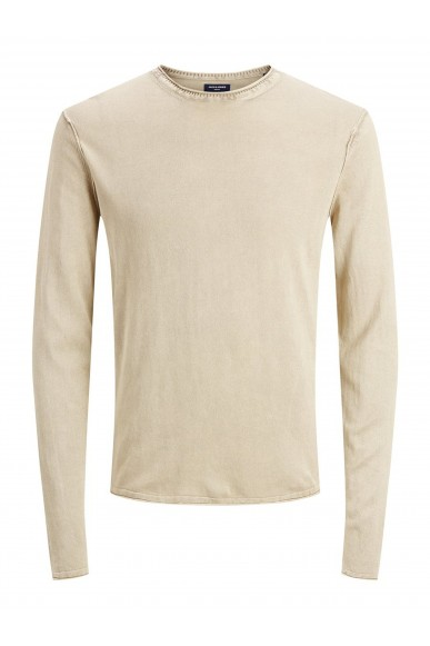 Jackejones Maglioni   Jprbluleonard knit crew neck Uomo Beige Fashion