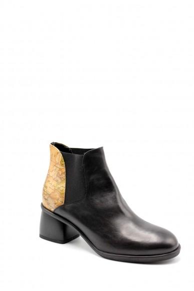 1^classe  Tronchetti F.gomma Tronchetto con elast Donna Nero Fashion