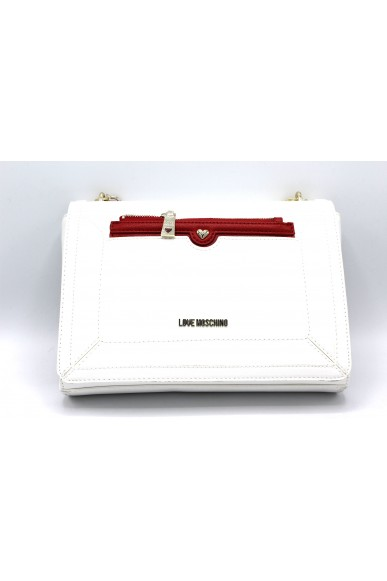 Moschino Borse Donna Bianco-rosso Fashion
