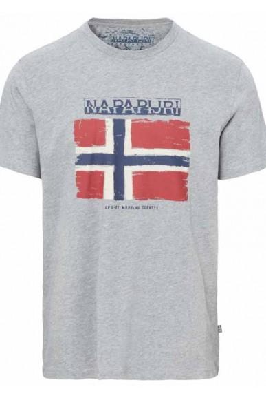 Napapijri T-shirt Sandrin Uomo Grigio Casual