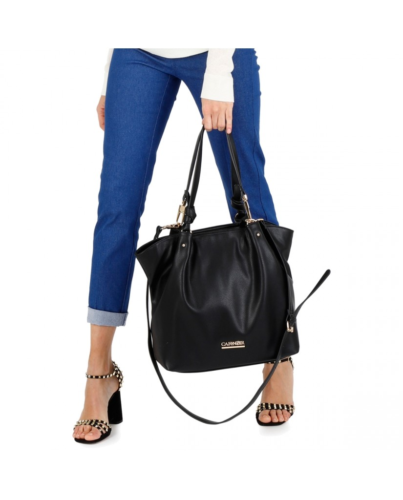 Cafe' noir Borse   Shopping con moschettoni ai manici Donna Nero Fashion