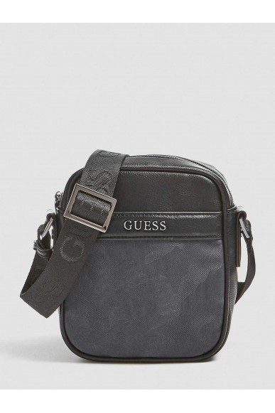 Guess Tracolle   City mini document case Uomo Nero Fashion