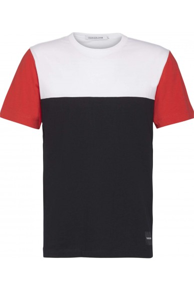 Calvin klein jeans T-shirt   Color blocking reg fit tee Uomo Nero