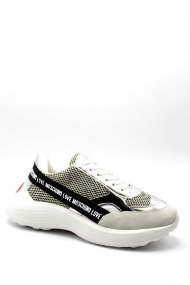 Moschino Sneakers F.gomma Sneakerd.running60 bia/arge/perla Donna Bianco Fashion