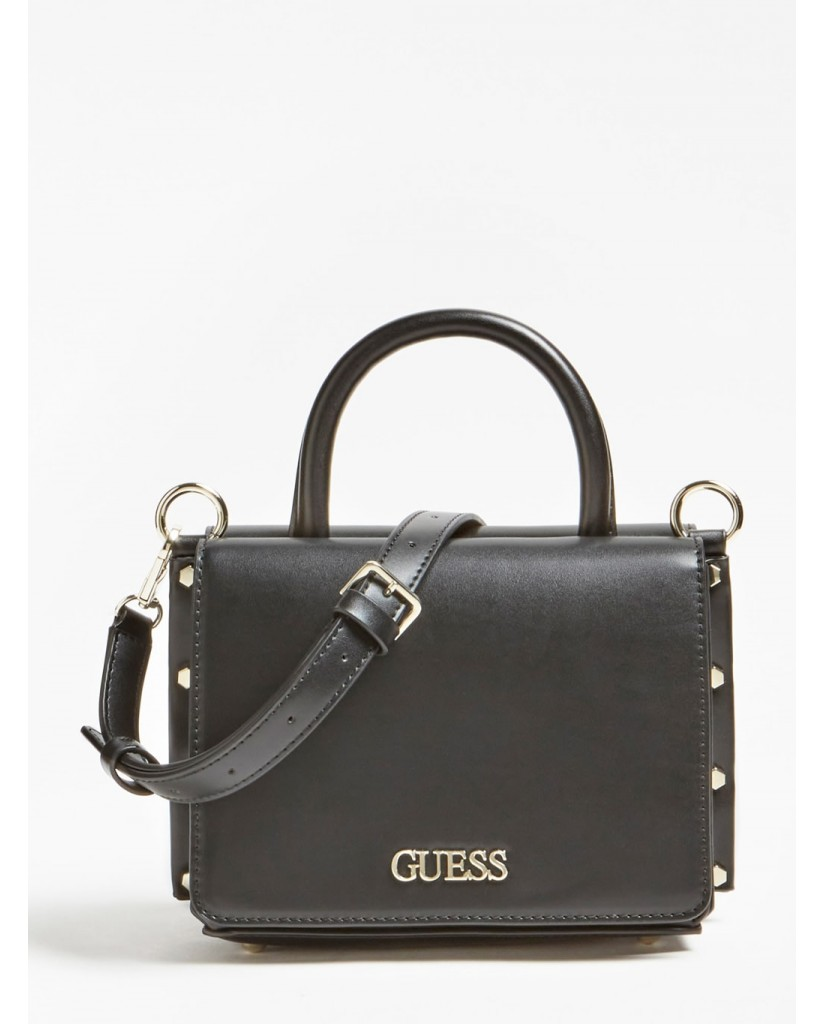 Guess Tracolle   Tia double flap crossbody Donna Nero Fashion