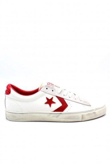 Converse Sneakers F.gomma Pro leather vulc Uomo Bianco-rosso Sportivo