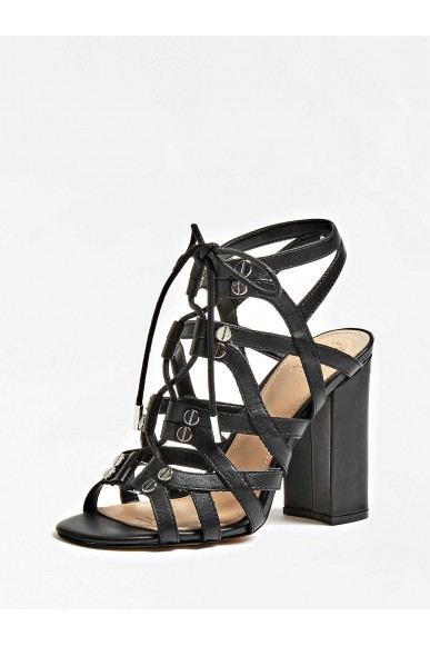 Guess Sandali   Karlie sandalo (sandal) leathe Donna Nero Fashion