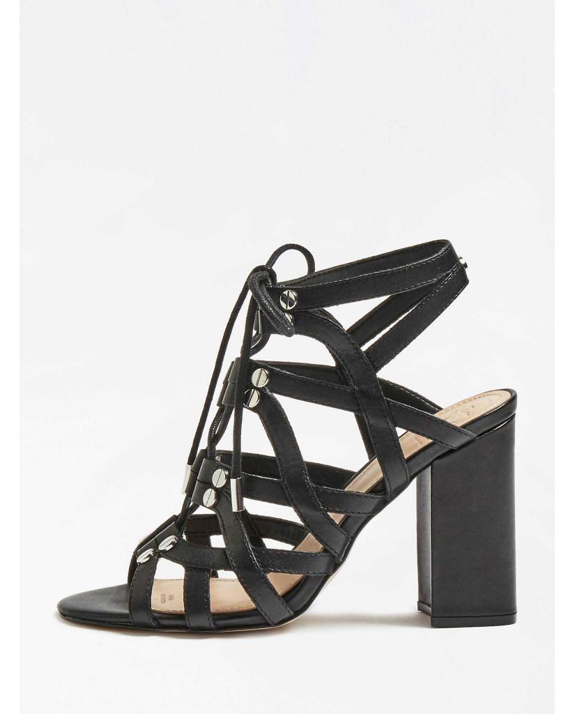 Guess Sandali   Karlie sandalo (sandal) leathe Donna Nero Fashion