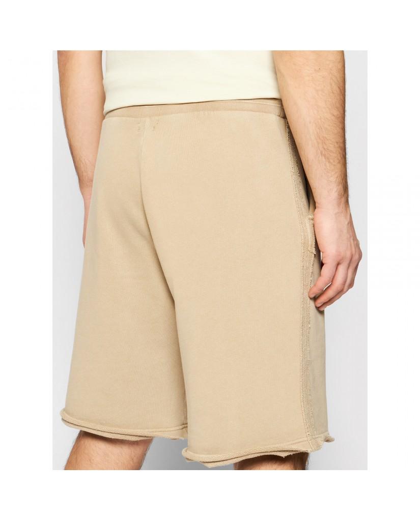 Guess Bermuda   Patch logo shorts Uomo Beige Fashion