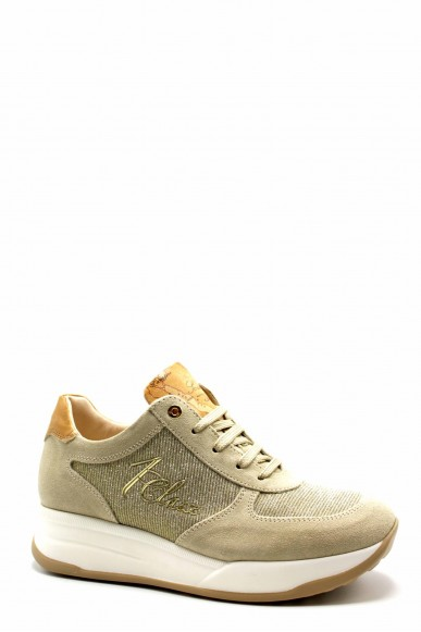 1^classe  Sneakers F.gomma N0295 Donna Beige Fashion