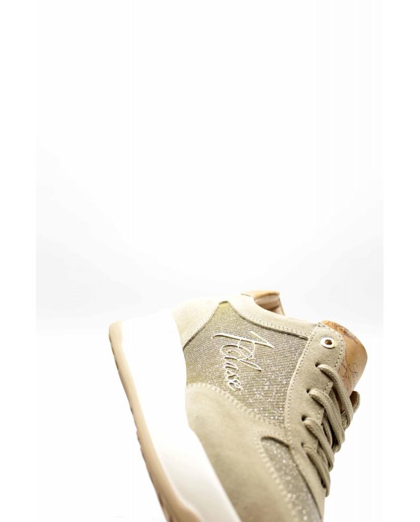 1^classe  Sneakers F.gomma N0295 Donna Beige Fashion