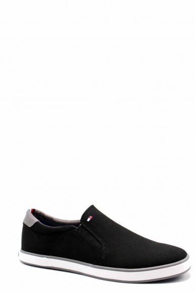 Tommy hilfiger Slip-on F.gomma Iconic slip on sneaker Uomo Nero Fashion