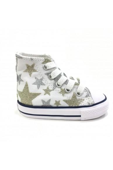 Converse Sneakers F.gomma 21/26 Bambino Bianco-argento Sportivo