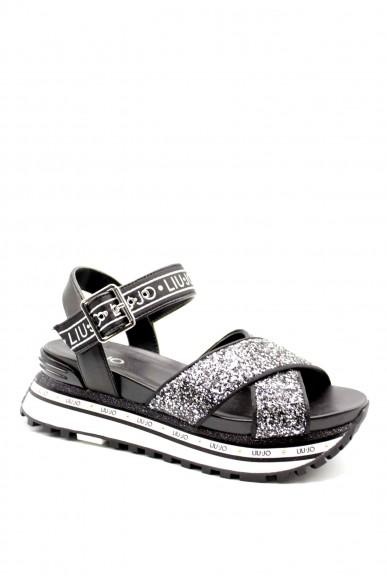 Liu.jo Sandali F.gomma Liujo maxi wonder sandal 11 - sanda Donna Nero Fashion