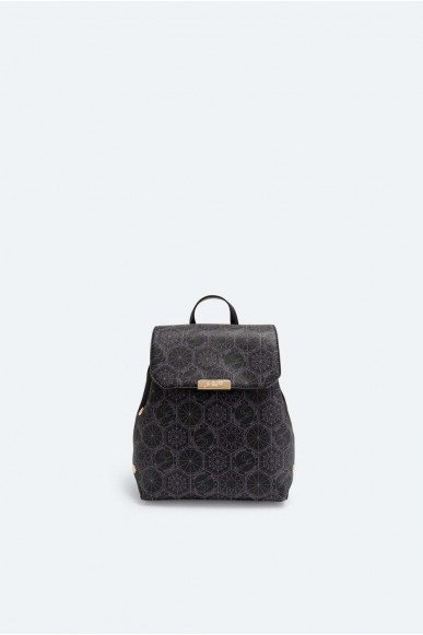 Gattinoni Backpacks   Teodosia backpack w/flap pvc / pu p Donna Nero Fashion