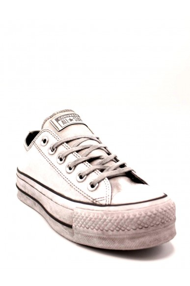 Converse Sneakers F.gomma Ctas lift leather ltd ox white Donna Bianco Casual