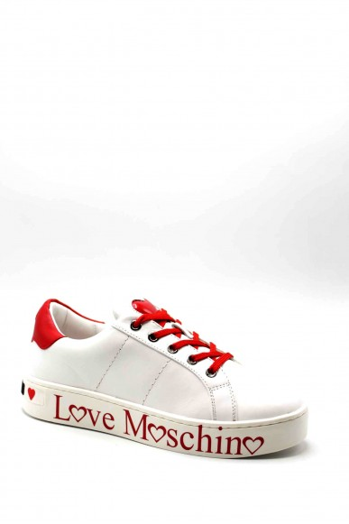 Moschino Sneakers F.gomma Sneakerd.cassetta35 vit.bianco+rsso Donna Bianco Fashion