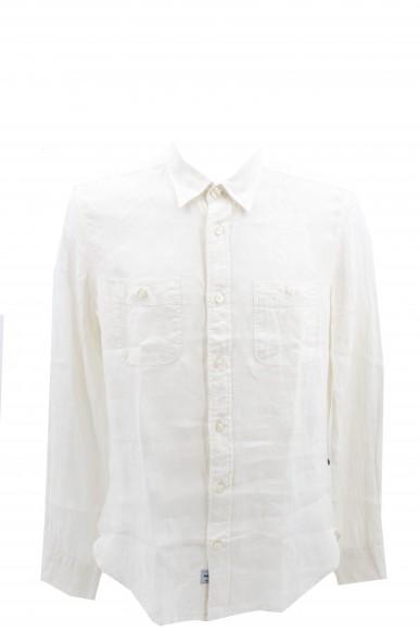 Blauer Camicie   Camicia manica lunga Uomo Bianco Fashion