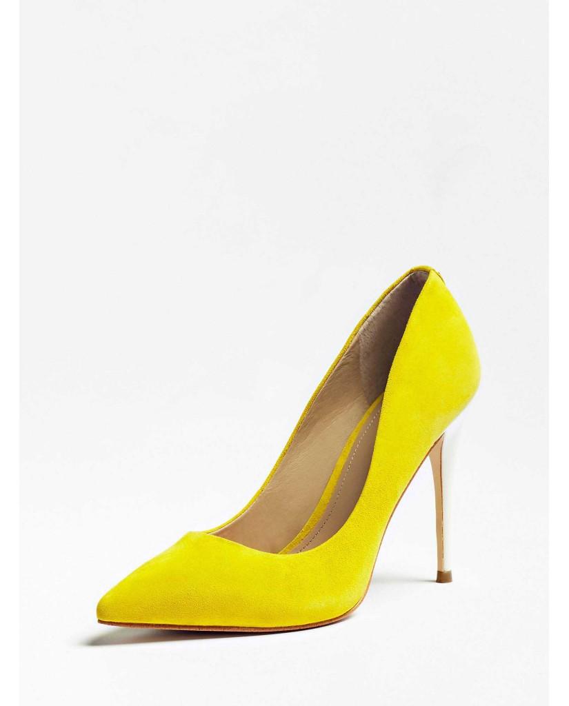 Guess Decollete   Okley decollete (pump) suede Donna Giallo Fashion