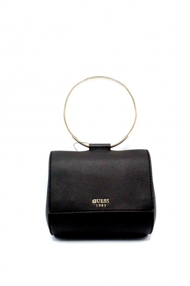 Guess Pochette - Keaton mini flap Donna Nero Fashion