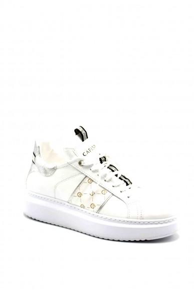 Cafe' noir Sneakers F.gomma Sneakers in pelle con facia logata Donna Bianco Fashion