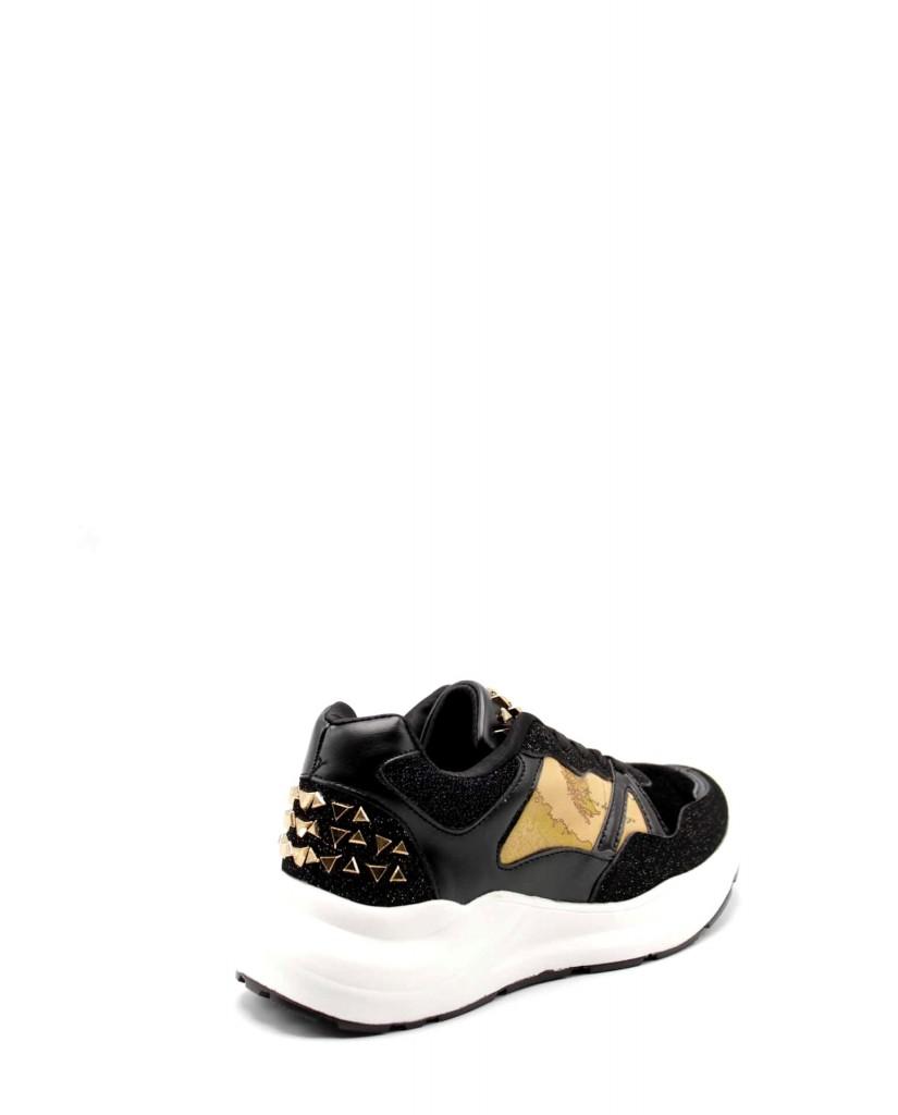 1^classe  Sneakers F.gomma Sneaker donna fondo Donna Nero Fashion