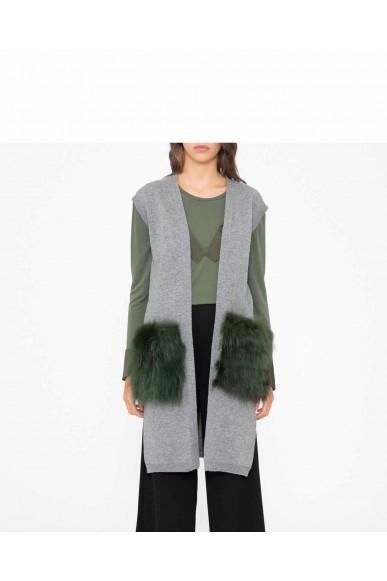 Silvian each Gilet   Gilet jacket herras Donna Grigio