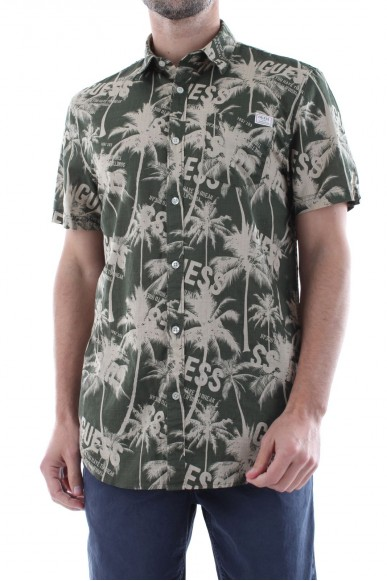 Guess Camicie   Ss collins shirt Uomo Verde Fashion