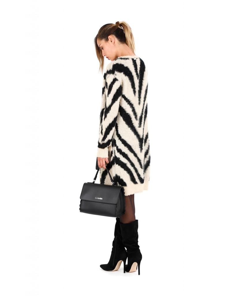 Cafe' noir Borse   Cartella smerlata Donna Nero Fashion