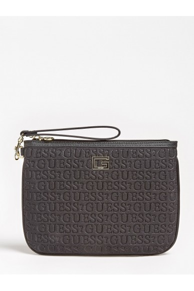 Guess Beauty   Caris flat top zip Donna Nero Fashion