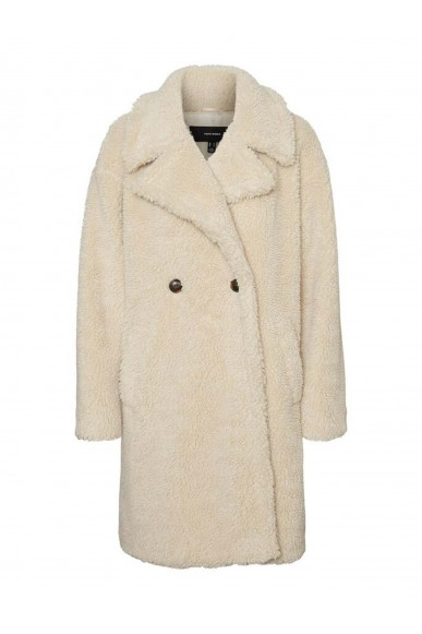 Vero moda Giubotti   Vmlynne 3/4 teddy jacket ki Donna Beige Fashion