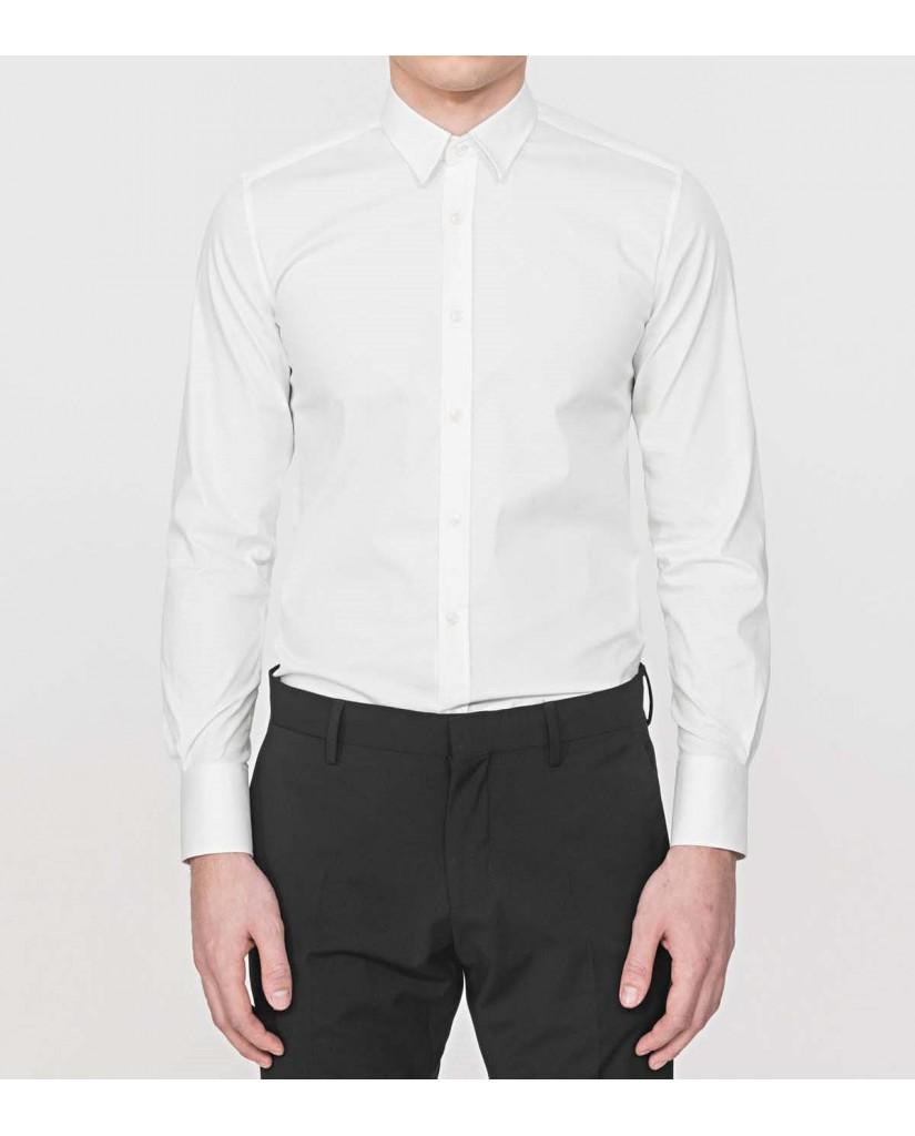 Antony morato Camicie   Camicia basica abbottonatura a Uomo Bianco Fashion