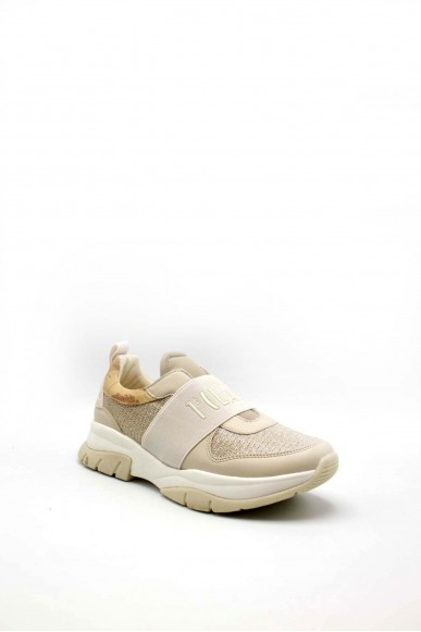 1^classe  Sneakers F.gomma 0886 Donna Beige Fashion